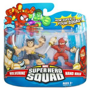 Wolverine Hand Ninja Super Hero Squad action figures