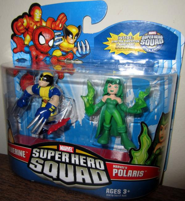 Wolverine Marvels Polaris Figures Super Hero Squad