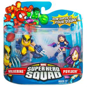 Wolverine and Psylocke Super Hero Squad Action Figures