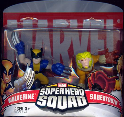 Wolverine Sabertooth Super Hero Squad action figures