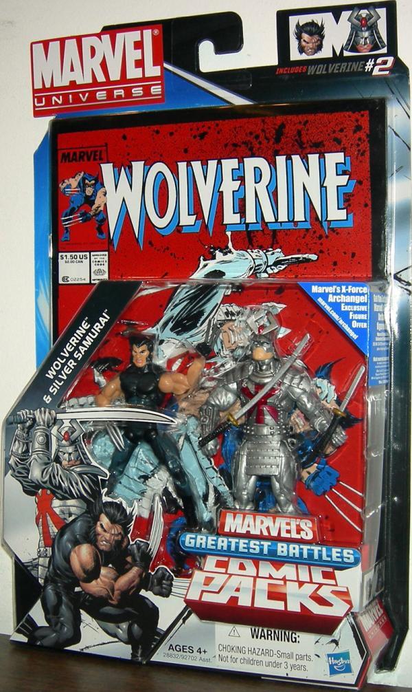 Wolverine Silver Samurai Marvel Universe Comic Pack 2 action figures