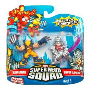 Wolverine Silver Samurai Super Hero Squad action figures