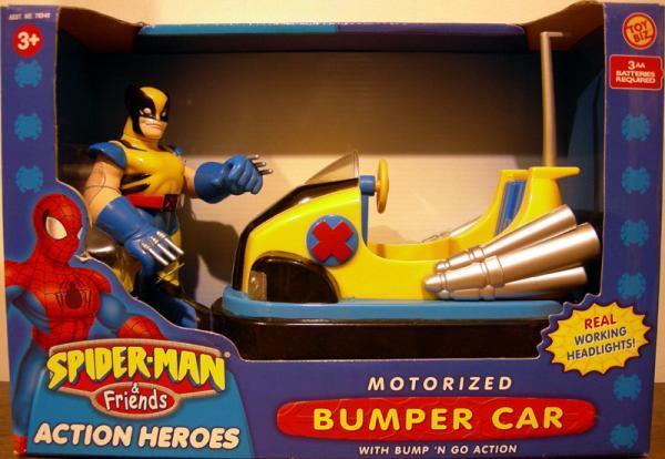 Wolverine Motorized Bumper Car Spider-Man Friends action figure vehicle