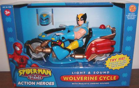 Light Sound Wolverine Cycle Spider-Man Friends action figure vehicle