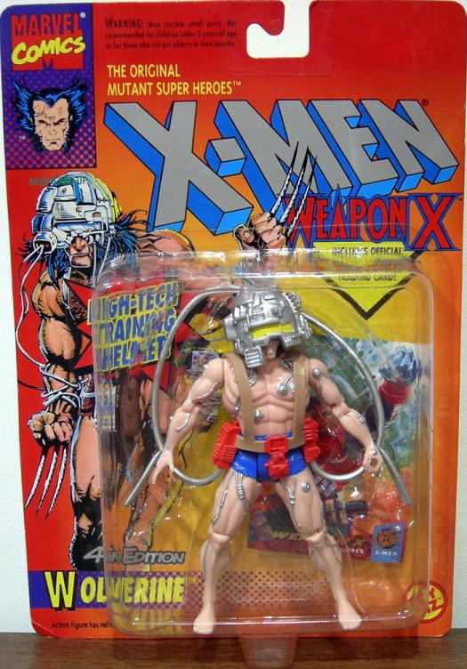 Wolverine 4th Edition Action Figure Weapon X X-Men Silver Cables