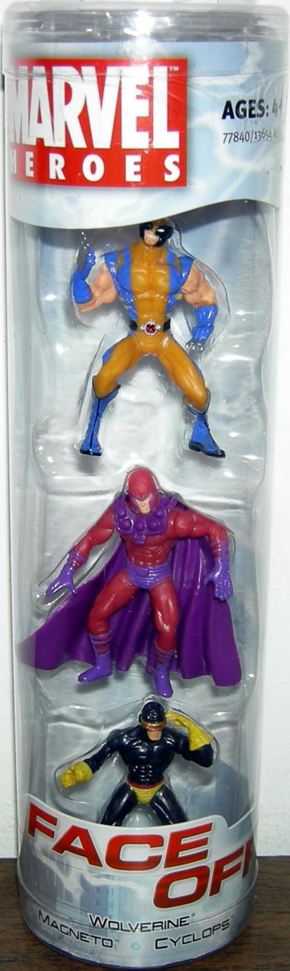 Wolverine Magneto Cyclops Marvel Heroes Face Off action figures