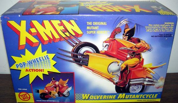 Wolverine Mutantcycle Pop-Wheelie Action vehicle