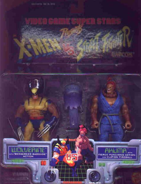 Wolverine vs Akuma Action Figures X-Men Street Fighter