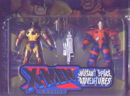 Wolverine vs Cable New Classics Mutant Space Adventures action figures