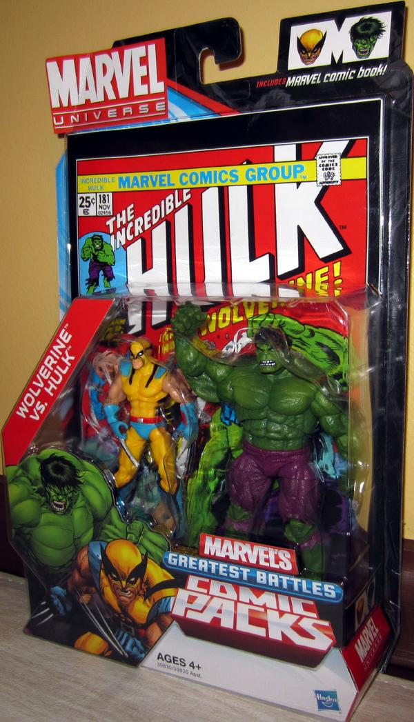 Wolverine vs Hulk Marvel Universe Action Figures