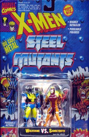 Wolverine vs Sabretooth X-Men Steel Mutants action figures