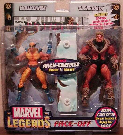 Wolverine vs Sabretooth Action Figures Marvel Legends Face-Off