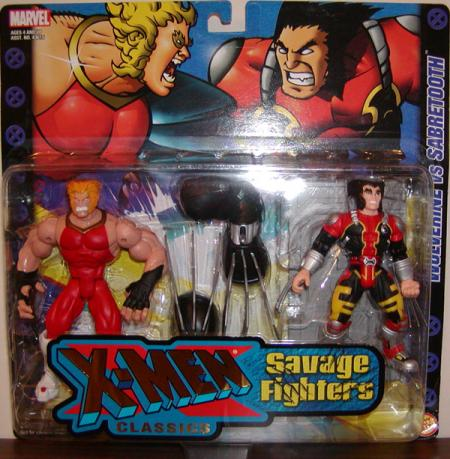 Wolverine vs Sabretooth X-Men Classics Savage Fighters action figures