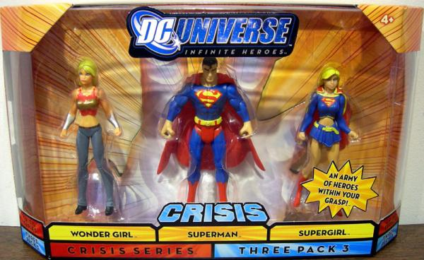 Wonder Girl Superman Supergirl Three Pack 3 Crisis Series action figures