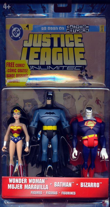 Wonder Woman Batman Bizarro Justice League Unlimited action figures
