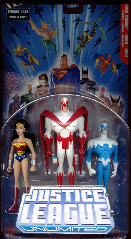Wonder Woman Hawk Dove Justice League Unlimited action figures