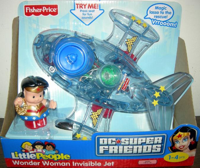 Wonder Woman Invisible Jet Little People action figure vehicle