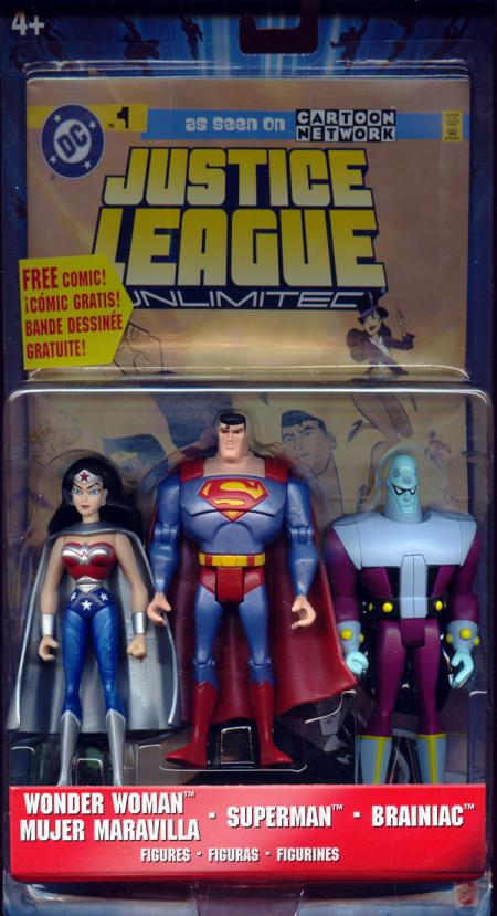 Wonder Woman Superman Brainiac Justice League Unlimited action figures
