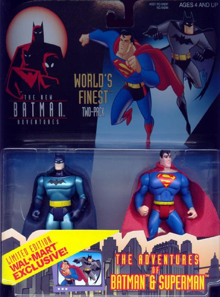 Worlds Finest Two-Pack Adventures Batman Superman action figures