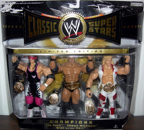 Bret Hit Man Hart, Rock Shawn Michaels 3-Pack