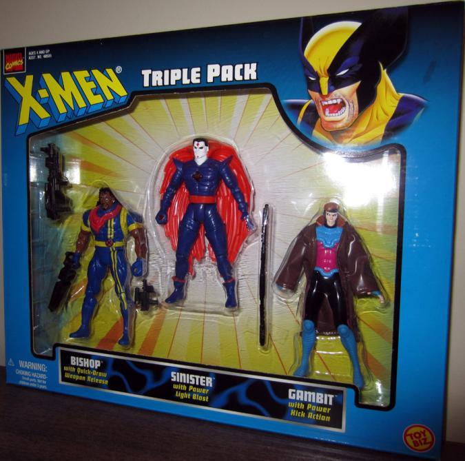 X-Men Triple Pack Figures Bishop Sinister Gambit Toy Biz