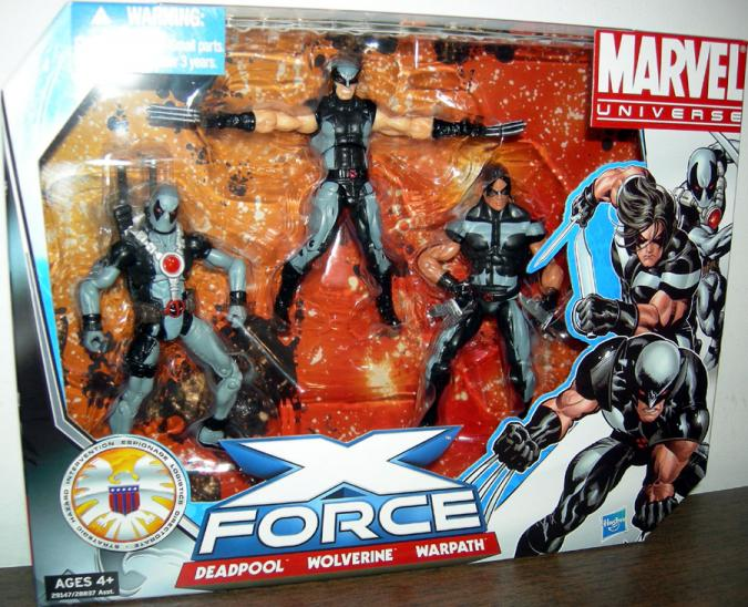 X-Force Deadpool Wolverine Warpath Action Figures Marvel Universe