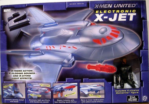 X-Men United Electronic X-Jet Toy Biz vehicle action figure
