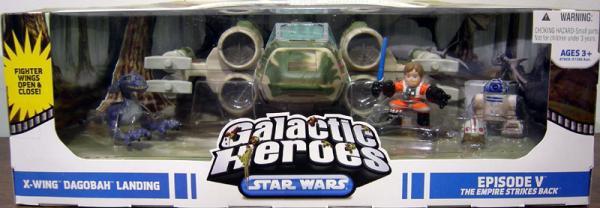 X-Wing Dagobah Landing Star Wars Galactic Heroes action figures