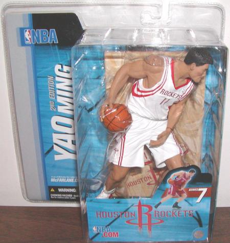 Yao Ming 2 White Uniform Chase Variant SportsPicks 7 action figure