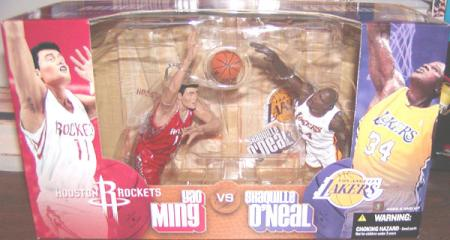 Yao Ming vs Shaquille ONeal SportsPicks action figures