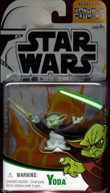 Yoda Cartoon Network Star Wars action figure