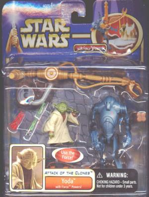 Yoda Deluxe Force Powers Star Wars action figure