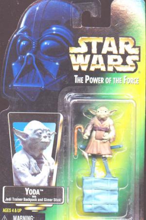 Yoda Green Card Star Wars Power Force action figure