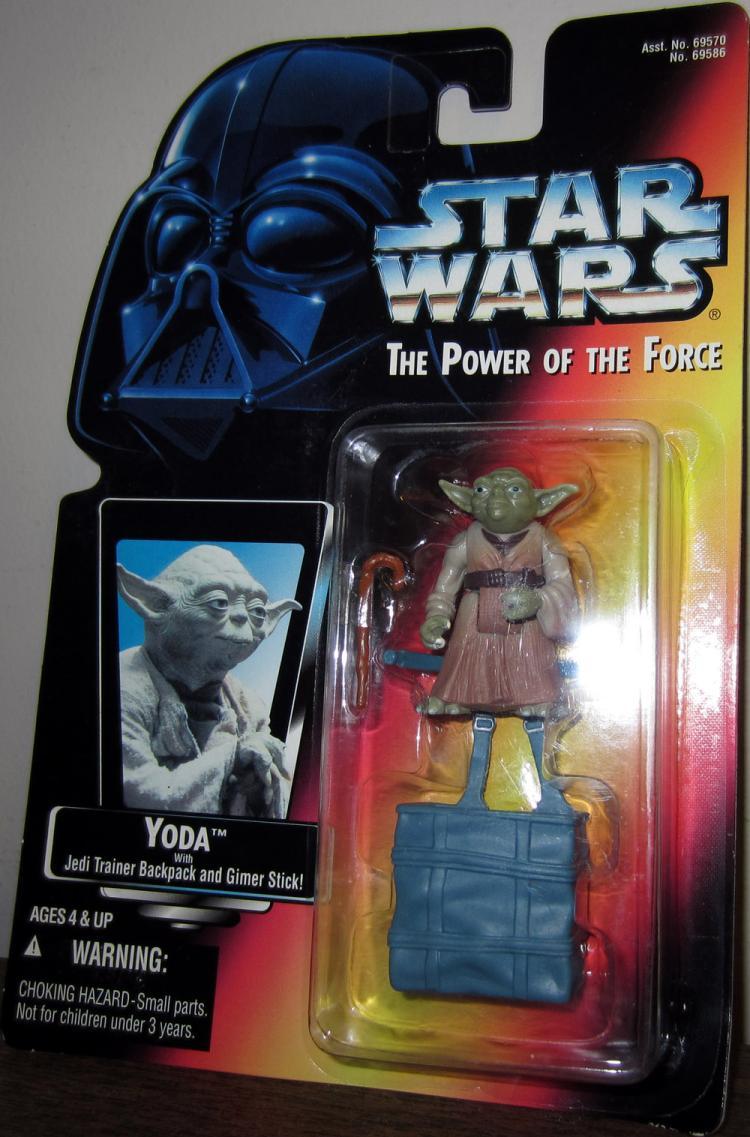 Yoda Figure Jedi Trainer Backpack Gimer Stick Star Wars