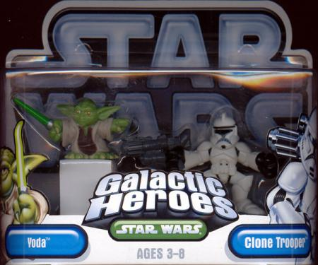 Yoda Clone Trooper Galactic Heroes Star Wars action figures