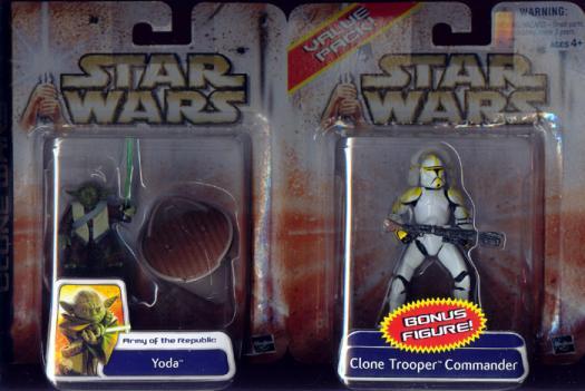 Yoda Clone Trooper Commander Value Pack Star Wars action figures