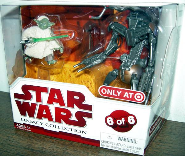 Yoda Droideka Star Wars Legacy Collection action figures