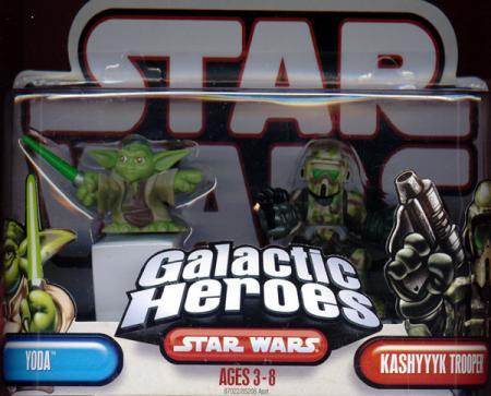 Yoda Kashyyyk Trooper Galactic Heroes Star Wars action figures