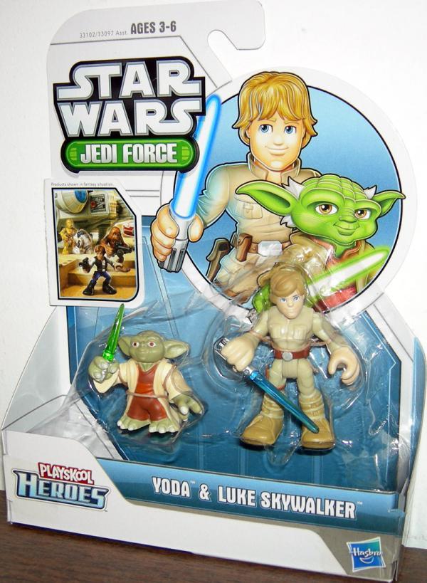 Yoda Luke Skywalker Playskool Heroes Jedi Force action figures