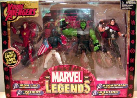 Young Avengers Action Figures Marvel Legends Toy Biz