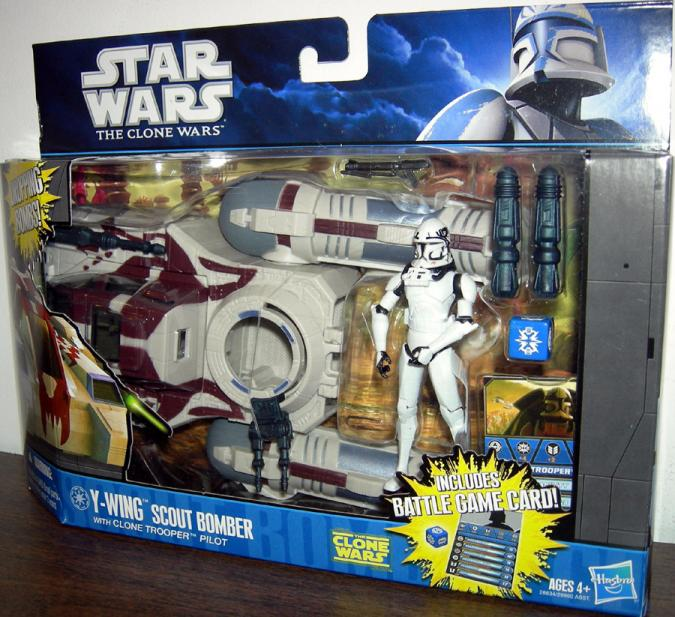 Y-wing Scout Bomber with Clone Trooper Pilot Action Figure Star Wars