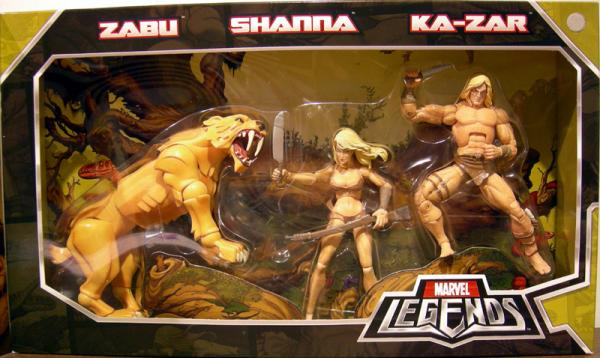 Zabu Shanna Ka-zar 3-Pack Marvel Legends action figures