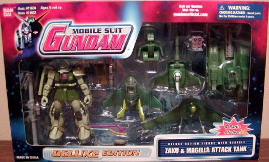 Zaku Magella Attack Tank Mobile Suit Gundam action figures