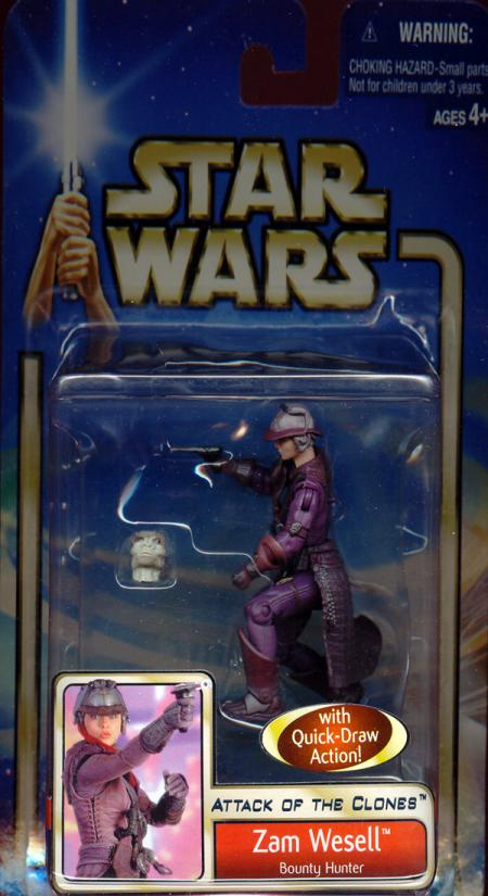 Zam Wesell Bounty Hunter Star Wars Attack Clones action figure
