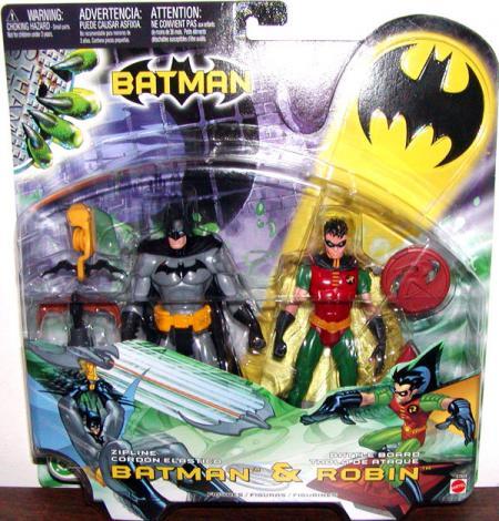 Zipline Batman Battle Board Robin 2-Pack action figures