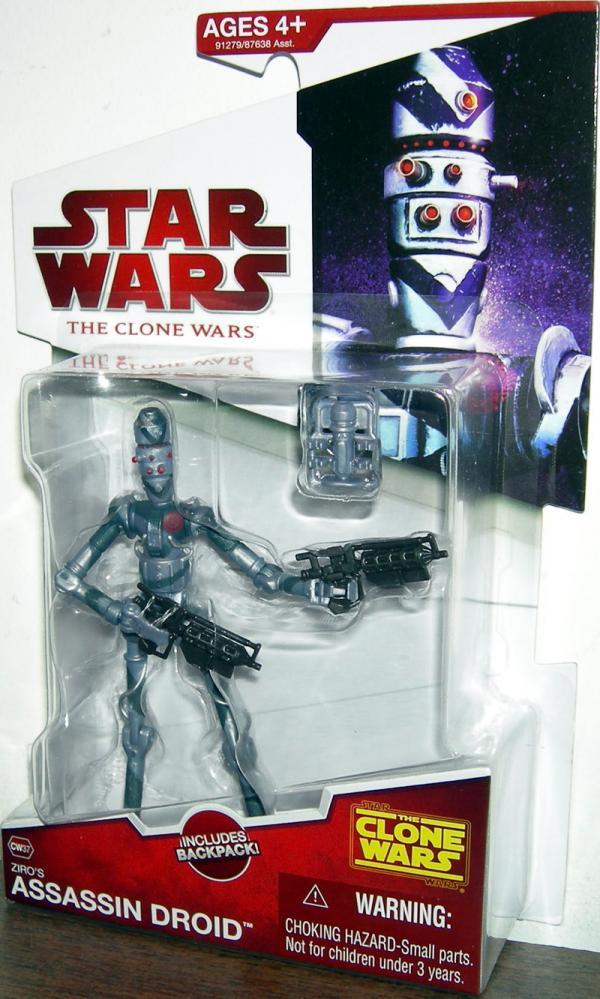 Ziros Assassin Droid CW37 Star Wars Clone action figure