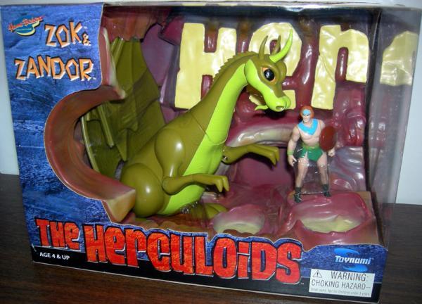 Zok and Zandor Herculoids Action Figures Toynami