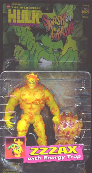 Zzzax Action Figure Incredible Hulk Smash Crash Toy Biz