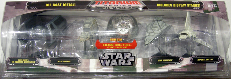 Star Wars Titanium Series Die-Cast 5-Pack (with raw Death Star)