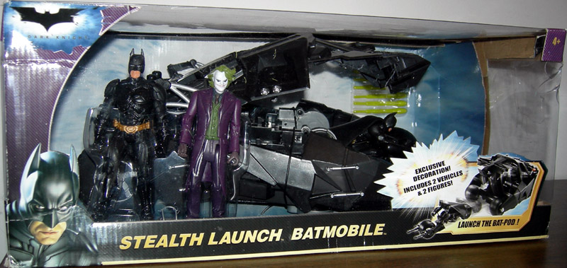 Stealth Launch Batmobile, with 2 bonus figures (The Dark Knight)